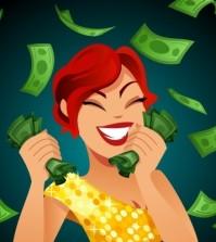 Frauen schauen auf das Geld